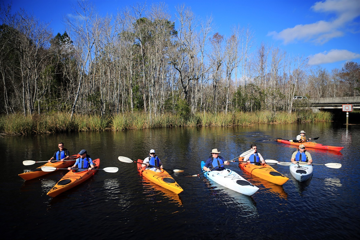 Kayaking is Popular here