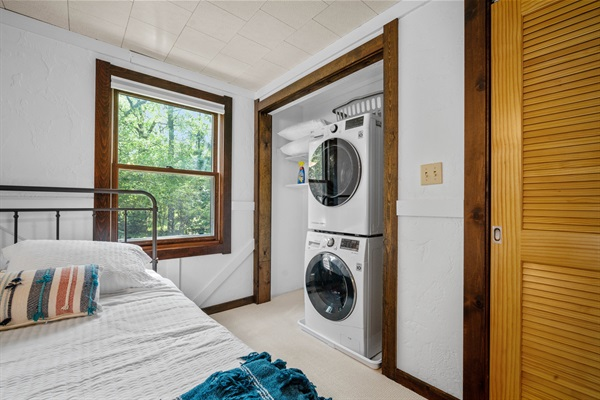 A washer and dryer are provided for your convenience while staying at Rocky Shores.