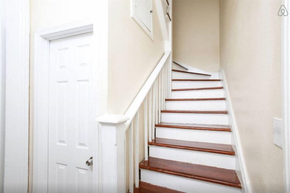 Interior stairs.