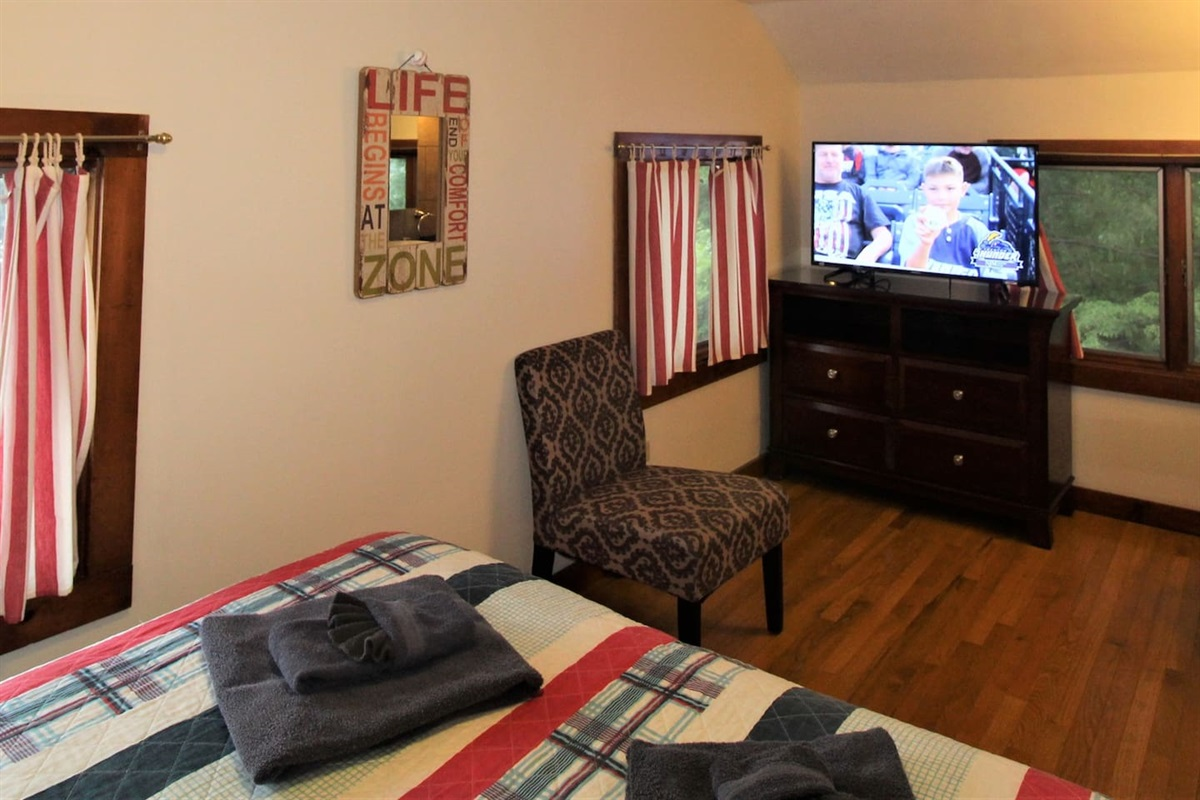 Bedroom #3, large flat screen smart Roku TV