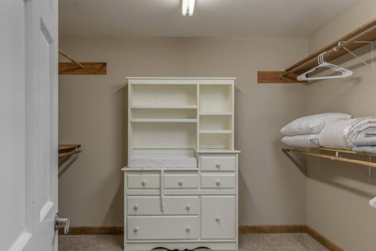 Master closet, Has dresser & changing table