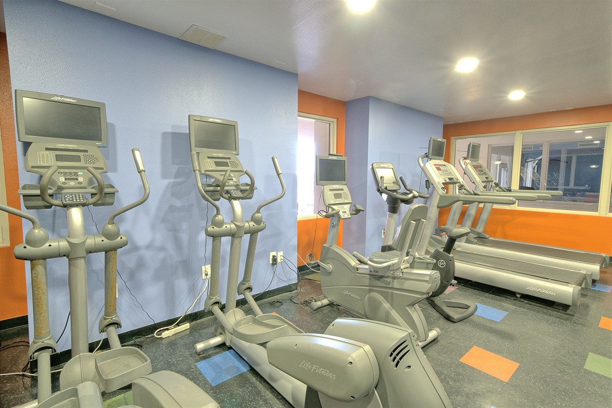 Fitness center is located on the 3rd floor.