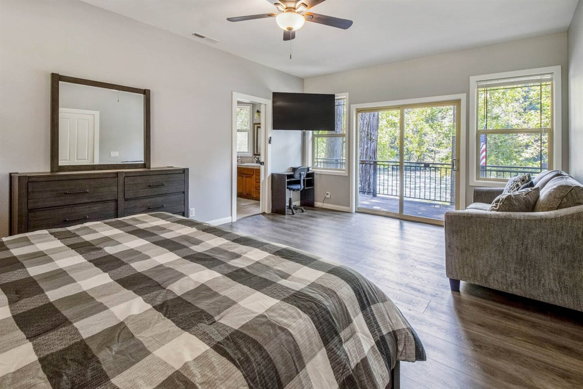 Wake up to amazing river views and sounds in your private Master Suite