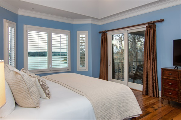 Awaken in the master suite with king bed, unbeatable views, balcony and ensuite bath