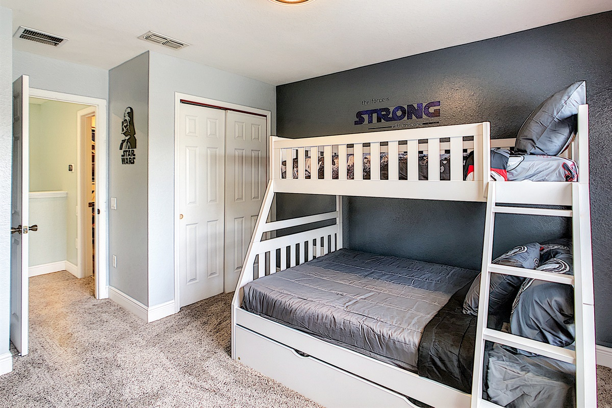 5th Bedroom - (Bunk Beds W/ Trundle - 2nd Floor)