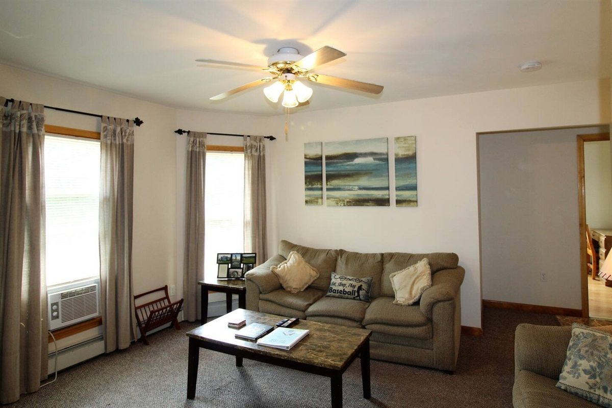 Comfortable living room to relax after a long day at the ballpark or sightseeing.