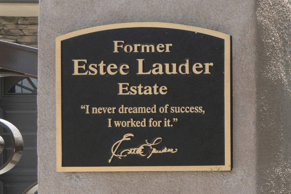 This home was formerly owned by Estee Lauder, a testament to the luxury and attention to detail and design.