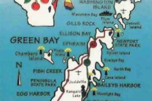 """The Door County peninsula is an amazing place to vacation! Fish Creek is one of the top destinations in the entire area! """"The Yellow Cottage"""" is perfect for your family, friends, or couples vacation!"""