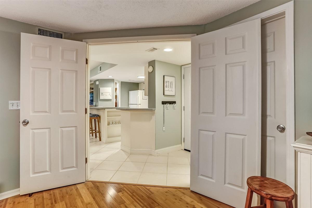 Doors from Twin Bedroom
