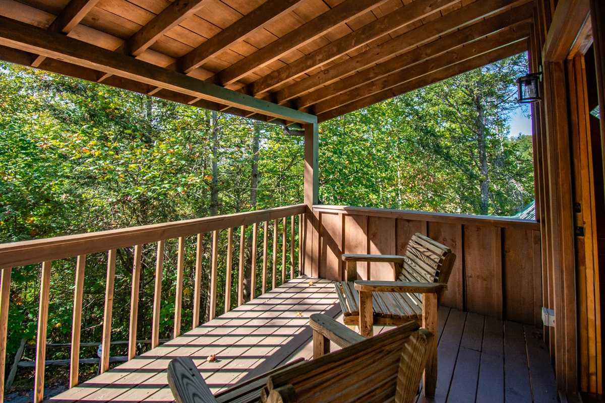 Private master bedroom balcony