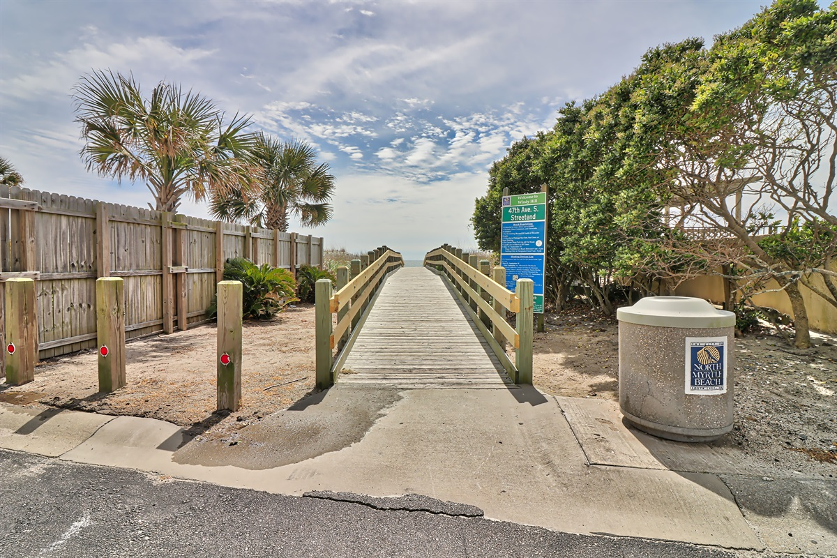 Public Access Ramp To Beach - No Stairs