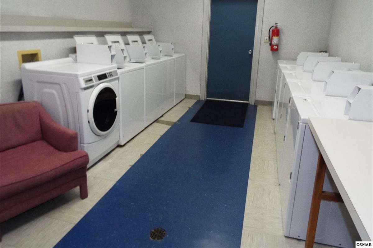 Community washer + dryer room