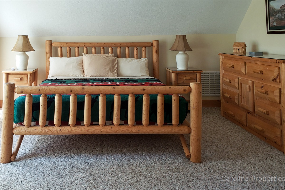 Upper level master with king size bed