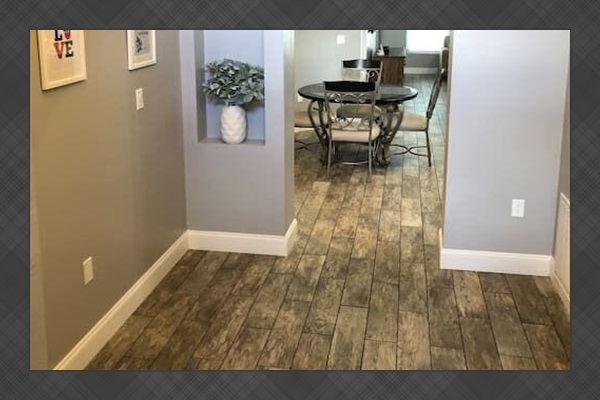 Tile floors throughout for safety and cleanliness
