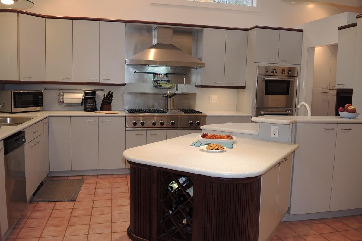 Chef's Kitchen - high end appliances including Sub zero fridge