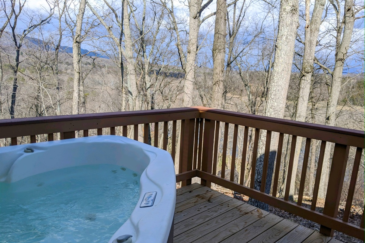 Hot tub with gorgeous views