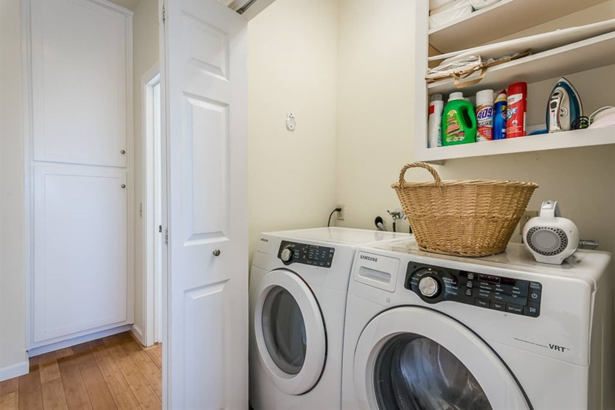 Washer and dryer on premises