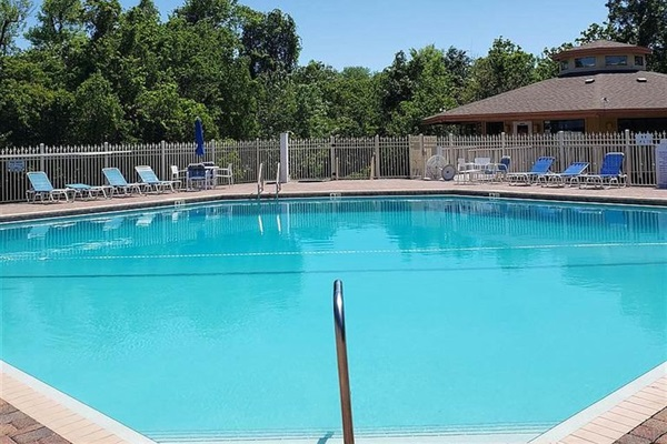 Beautiful community pool and clubhouse