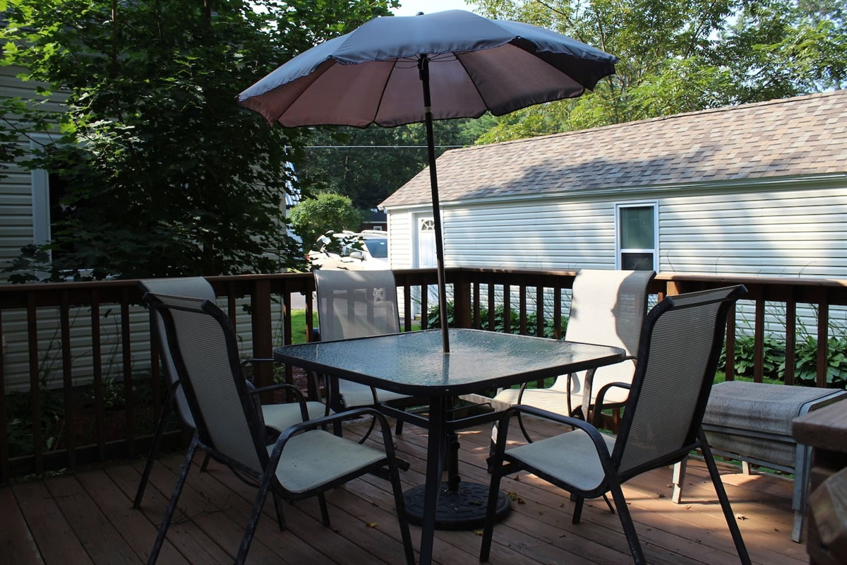 Outdoor deck for dining and relaxing
