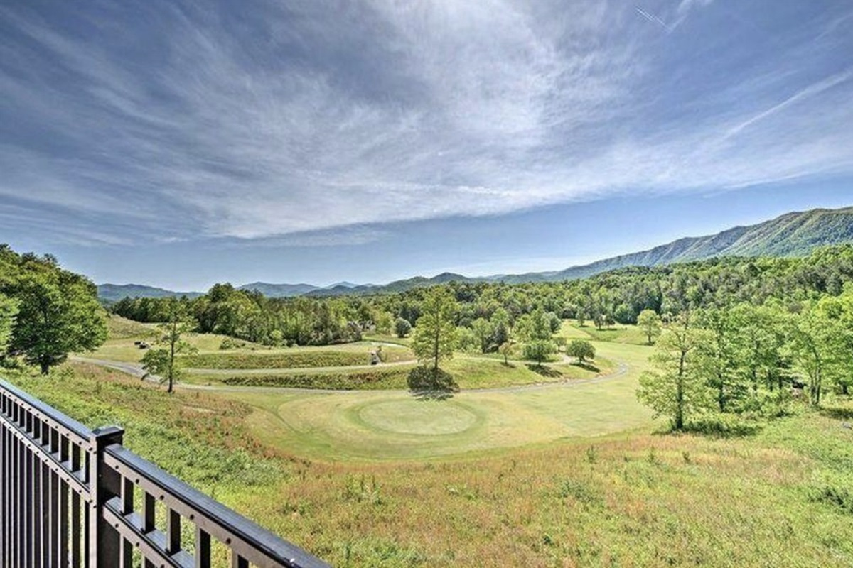 Golf course views from the tavern and swimming pool