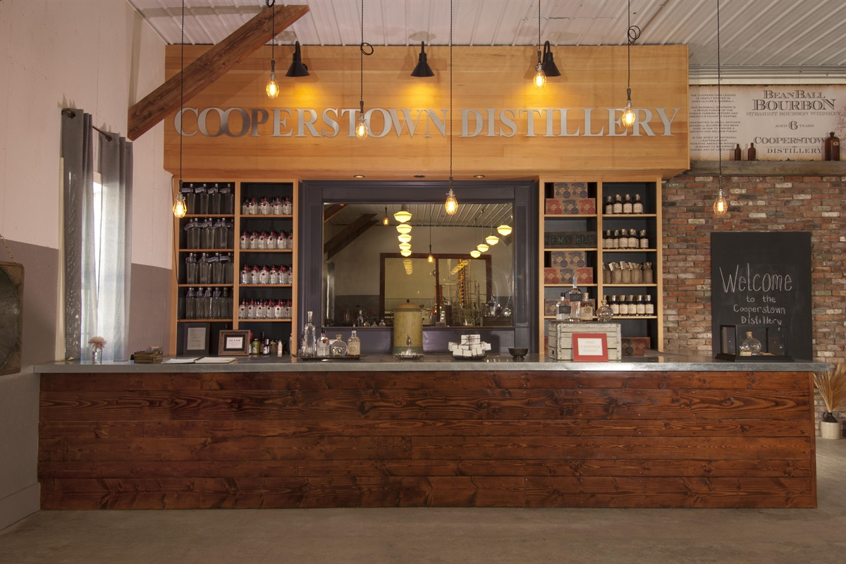 Enjoy a cocktail at the Cooperstown Distillery along the Cooperstown Beverage Trail