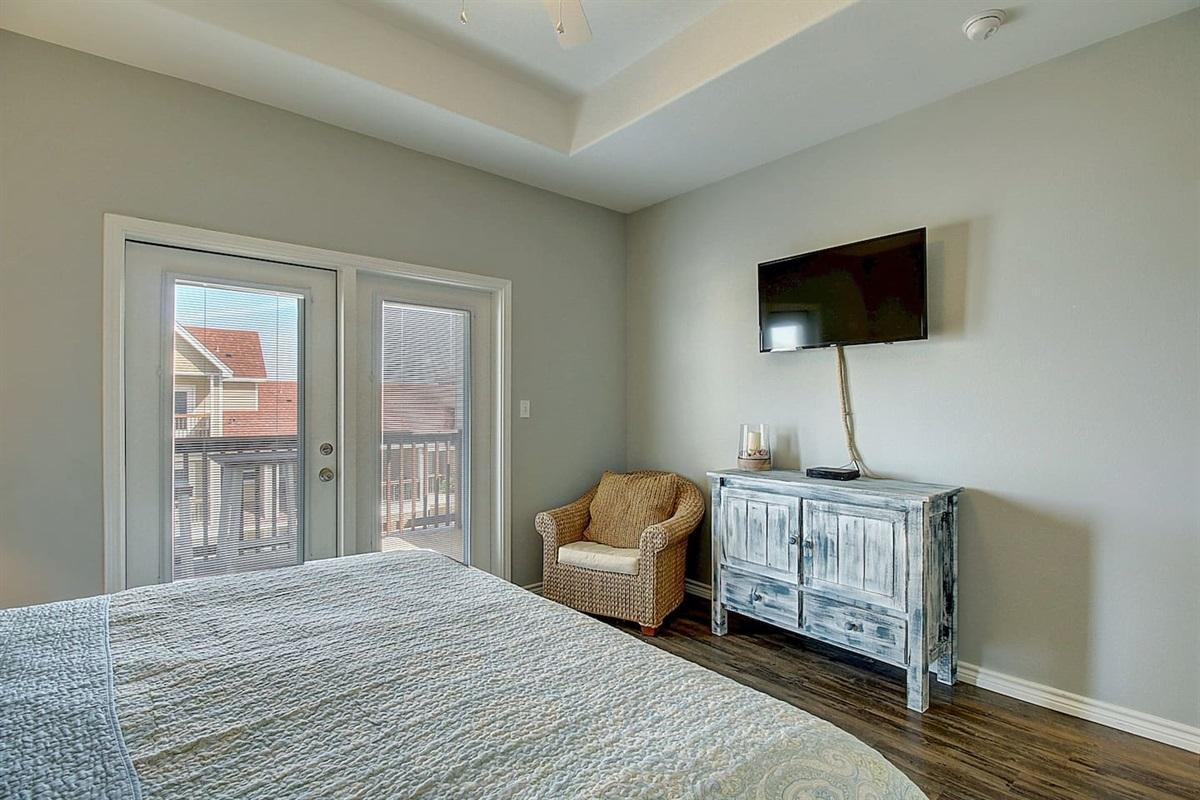 """3rd Floor King Bedroom - 40"""" TV"""