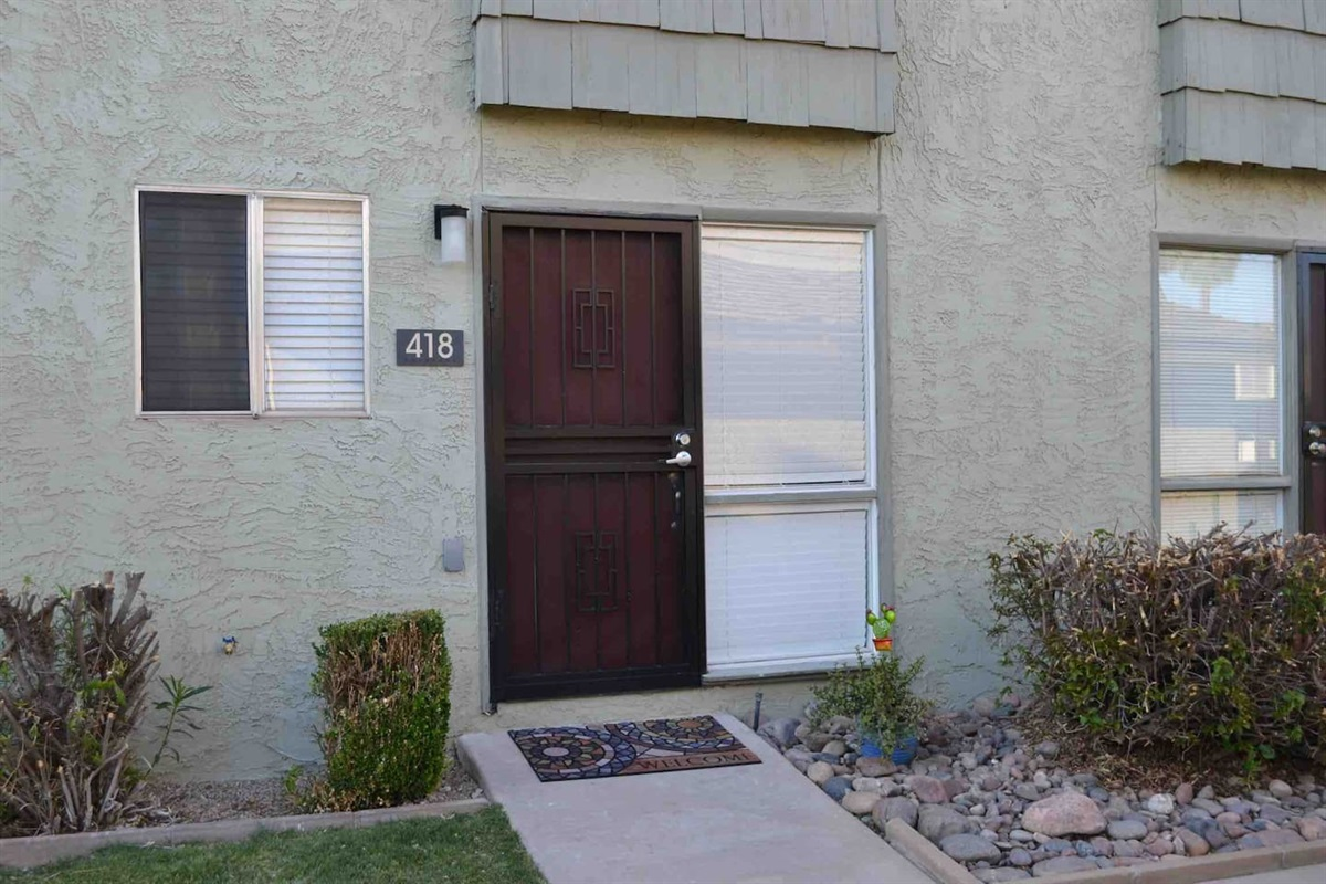 Front entrance with keyless entry