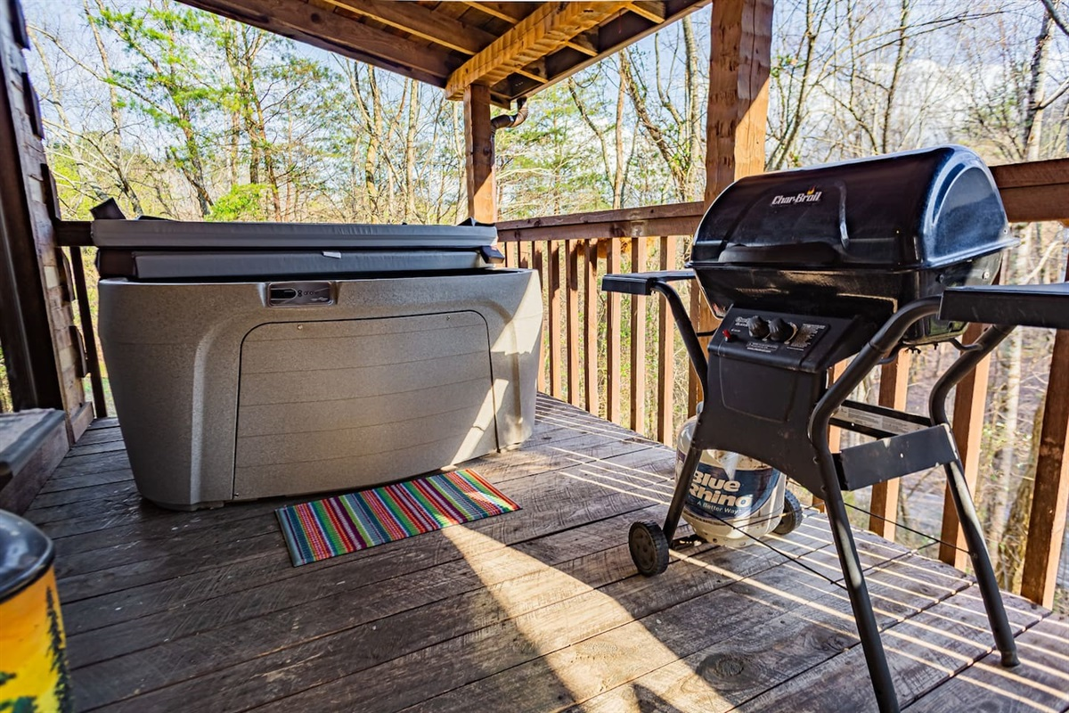 New hot tub and grill