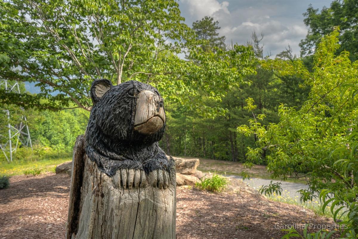 Beautiful wood bear