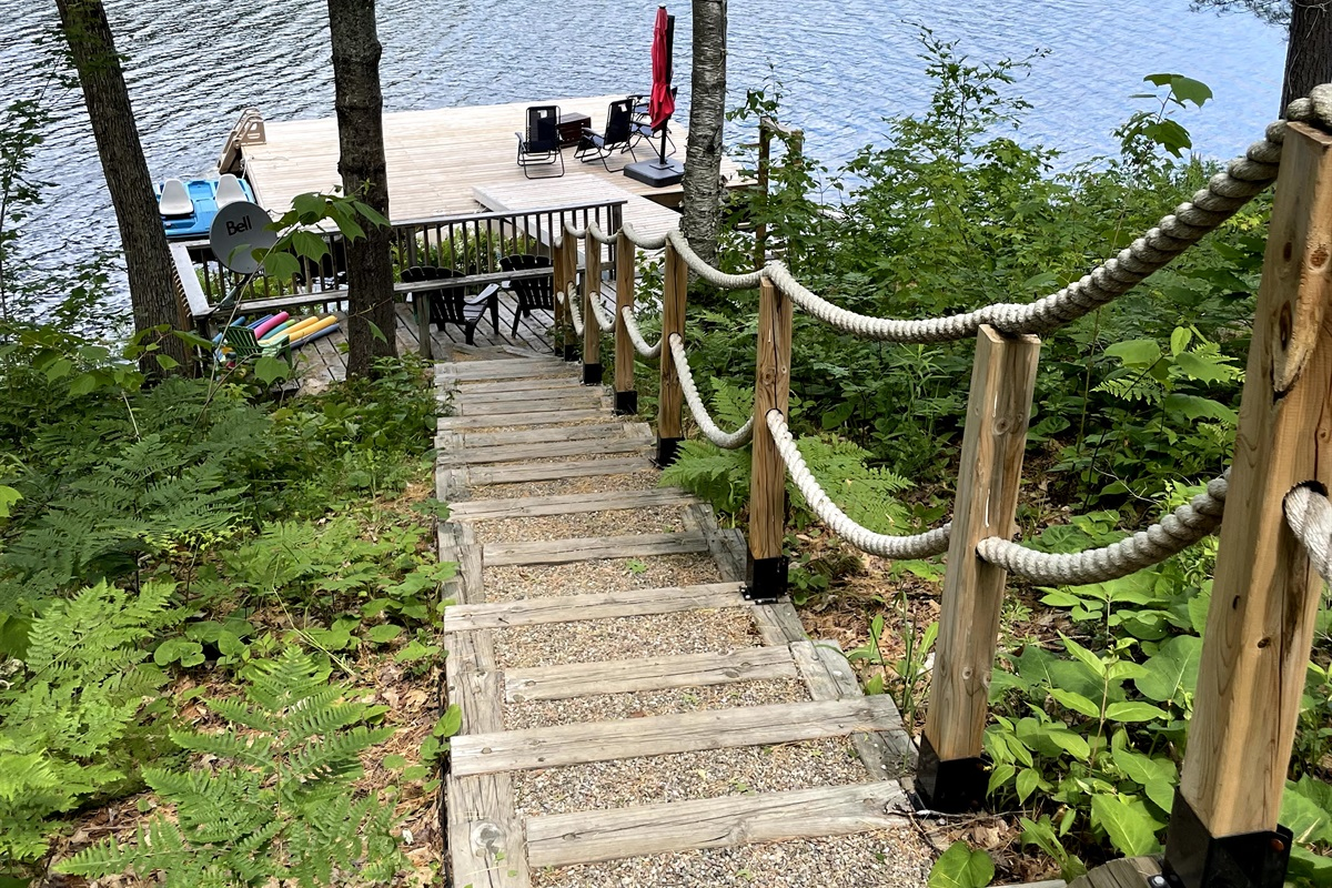 Steps to dock