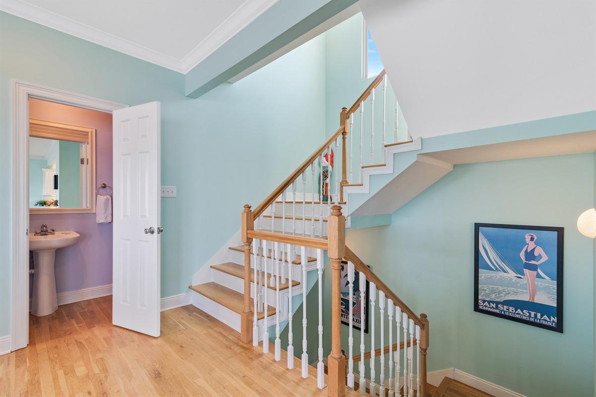 Half Bath & Stair Way