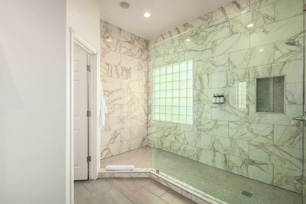 primary bath - walk in shower with water closet