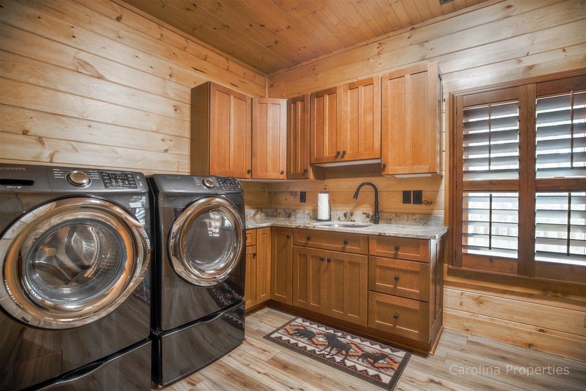 Laundry room and 2nd kitchen on lower level