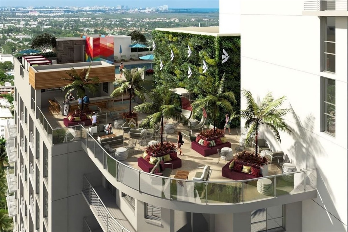 Hollywood's newest and hip 12th-story restaurant and lounge overlooking The Young Circle! A 10 minute walk. :-)