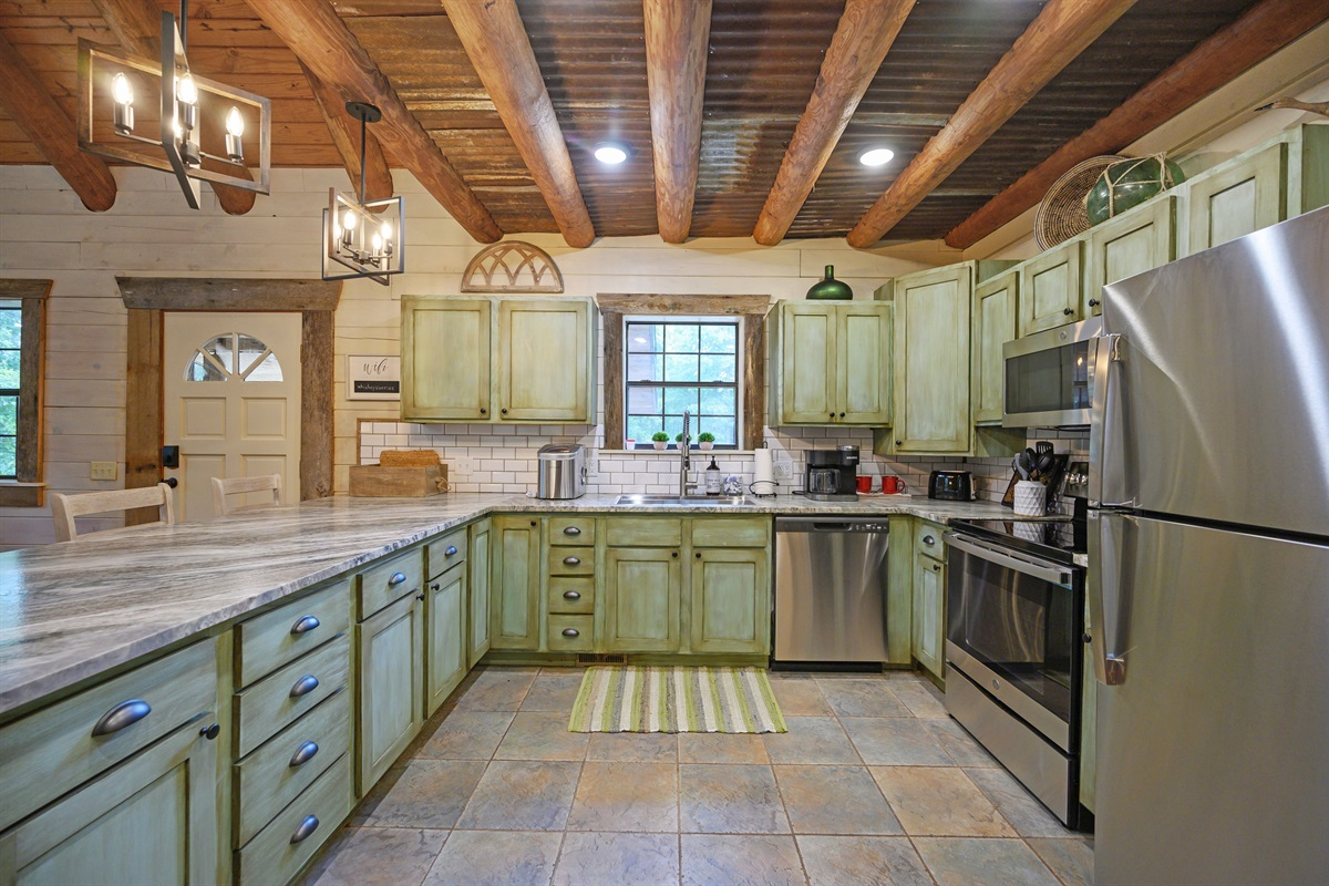 Redesigned kitchen full of detailed finish
