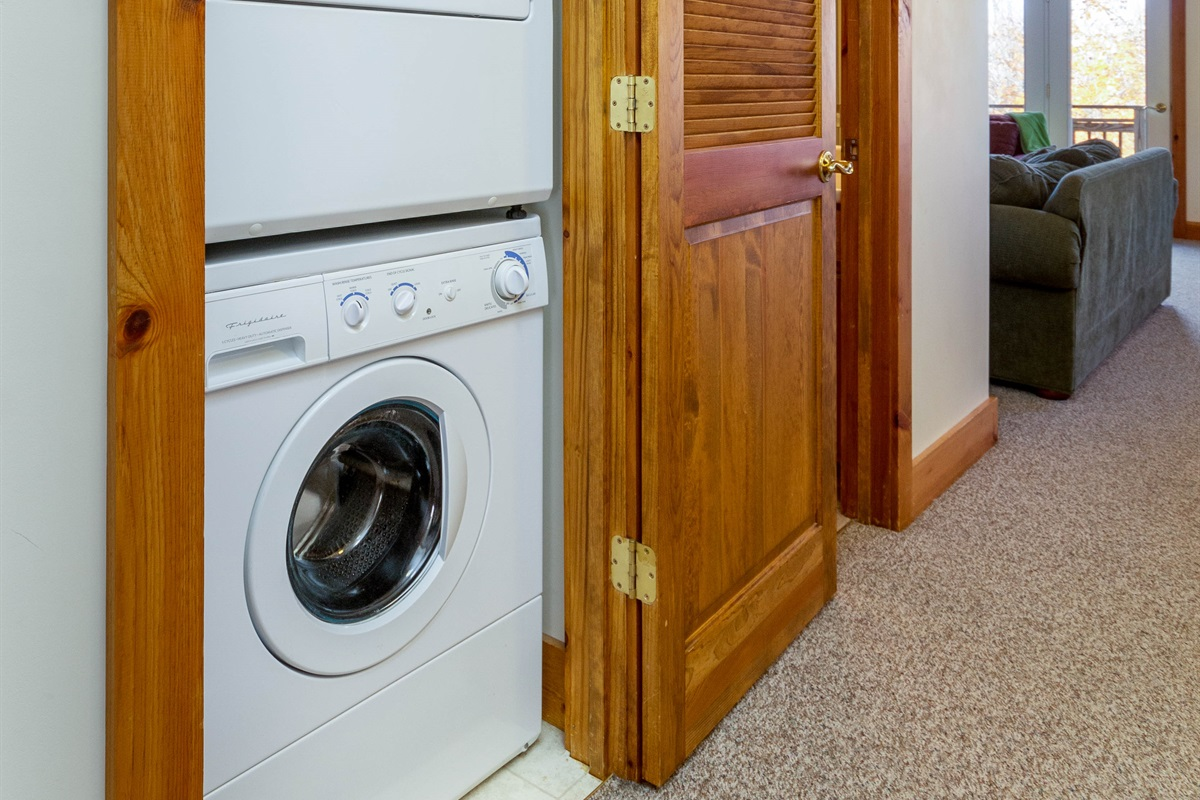 Washer dryer on both floors