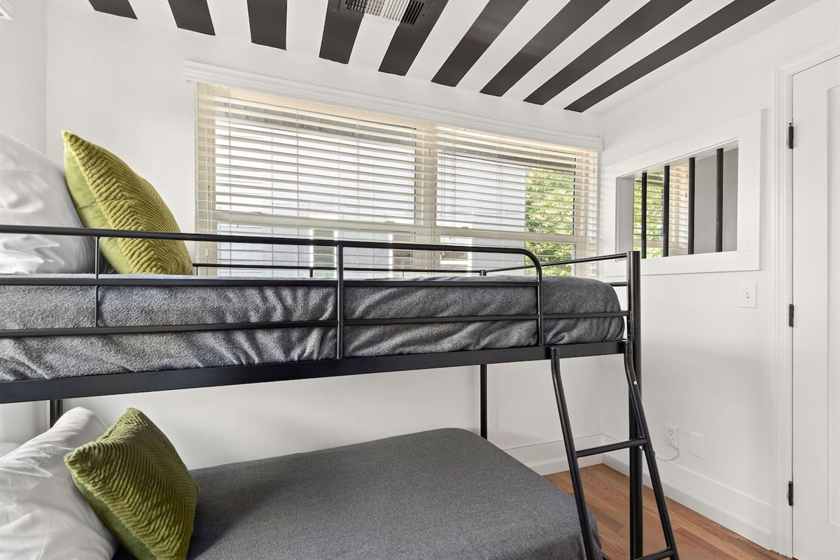 This room is furnished with 2 twin beds, 2 sleeping pillows per bed, and an attached closet