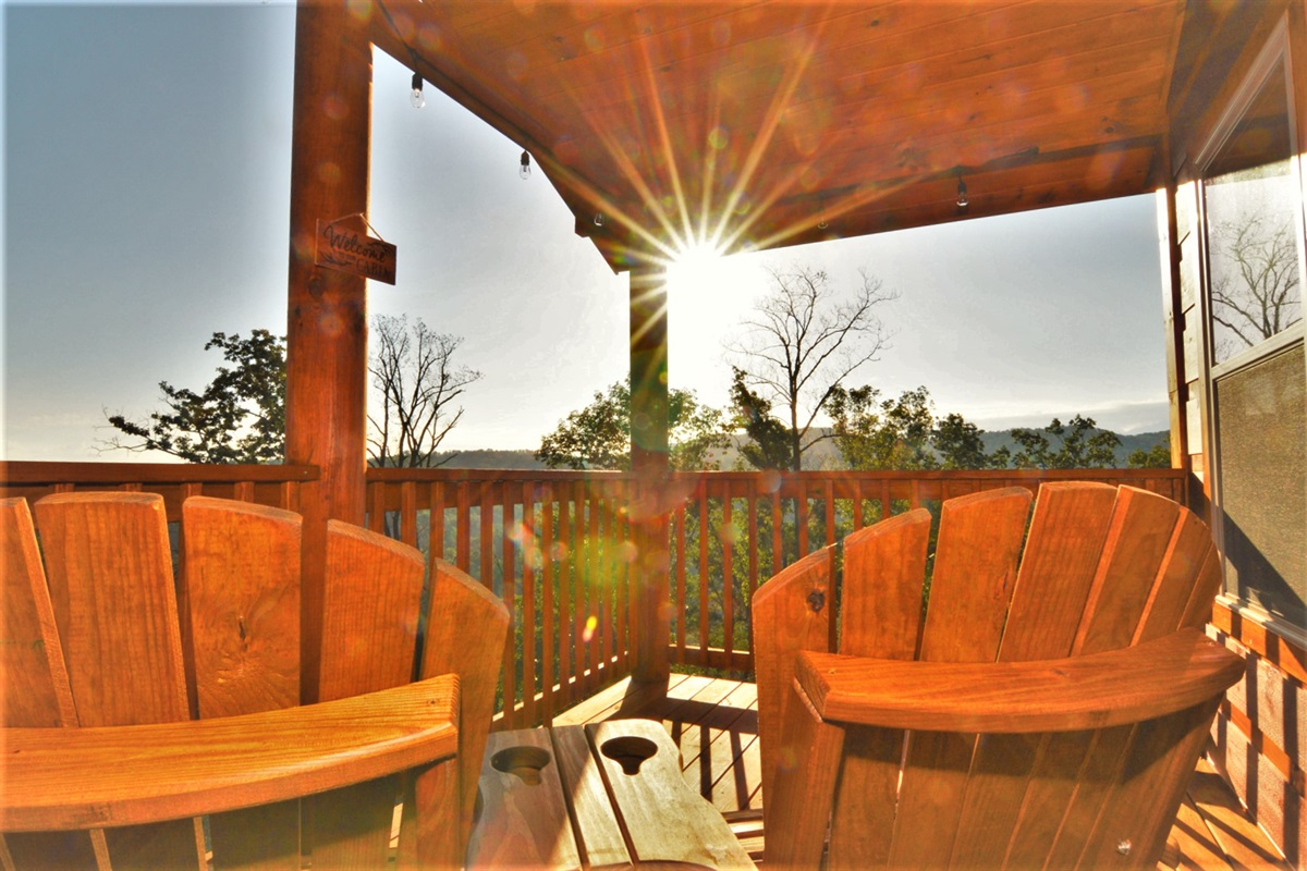 Sunrise on your private balcony overlooking the ridge!
