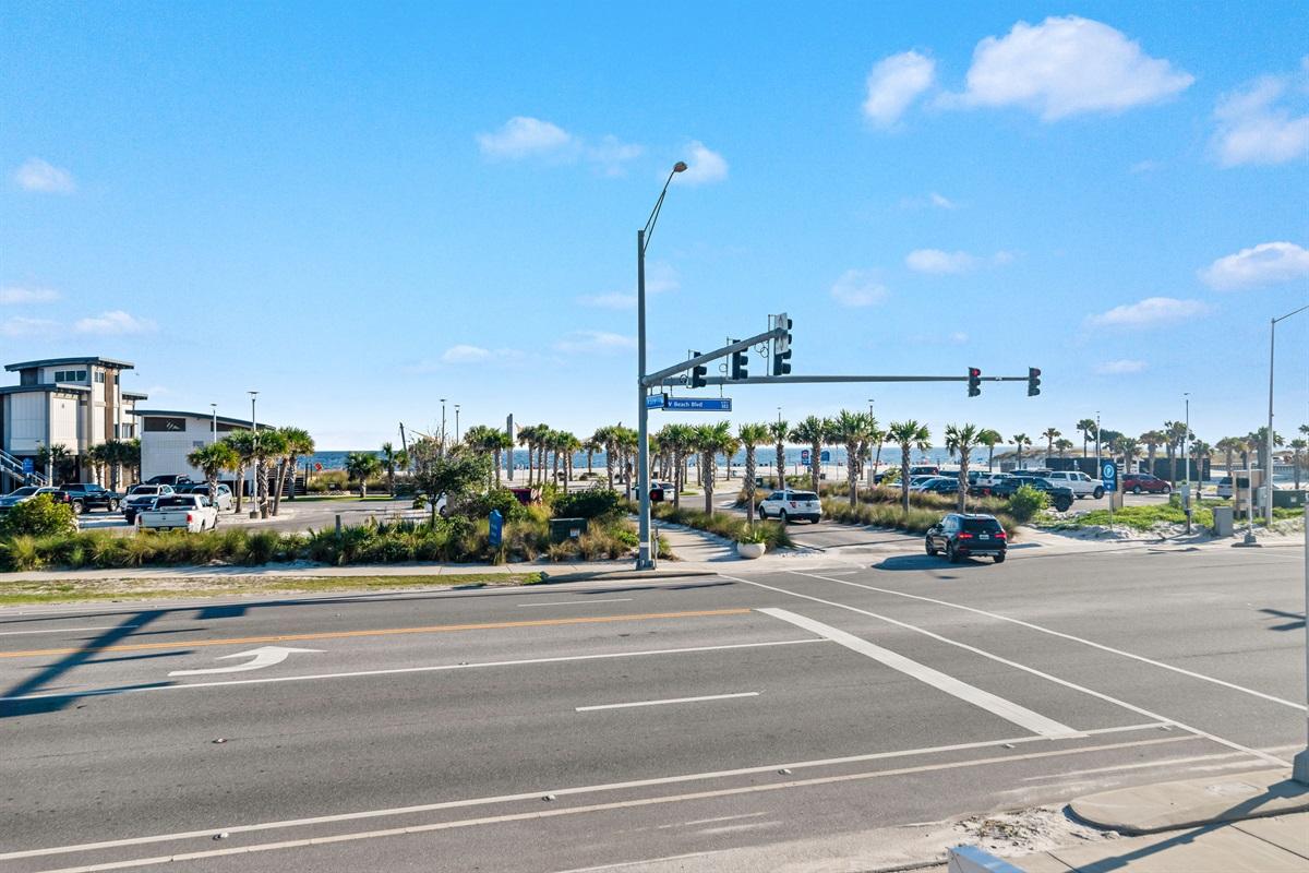 Beach Access w/ Crosswalk