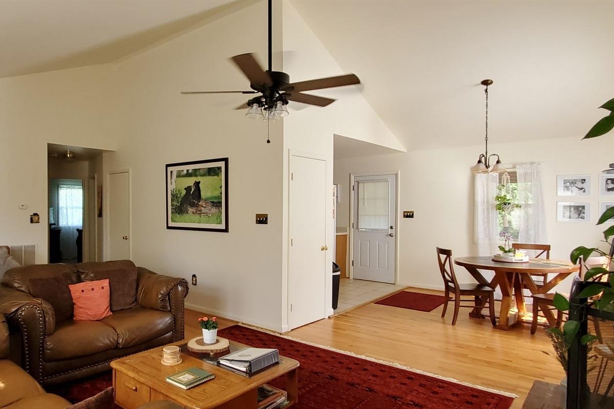 Spacious living area!