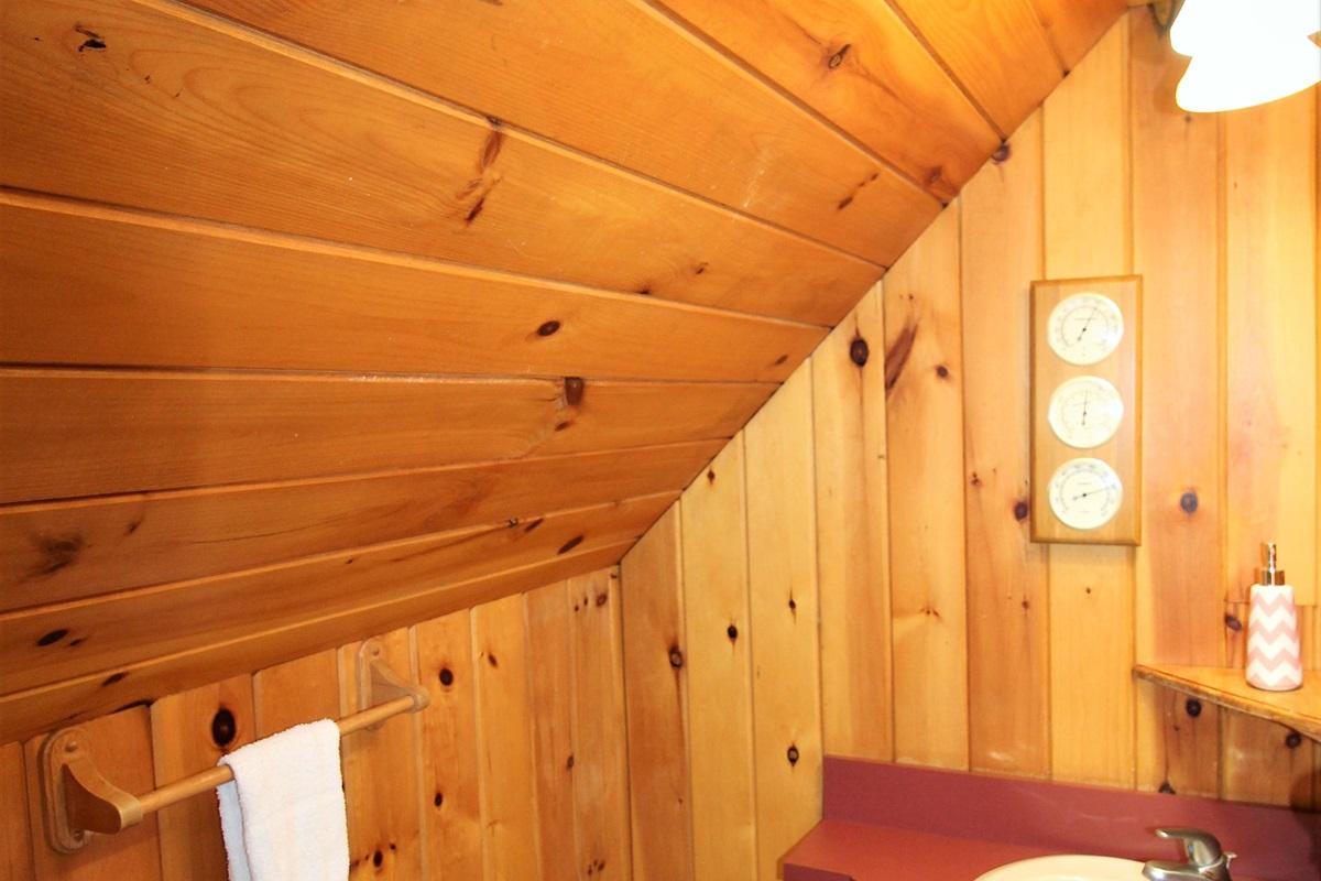 En suite half bath to Bedroom #5 - the twin bedroomE