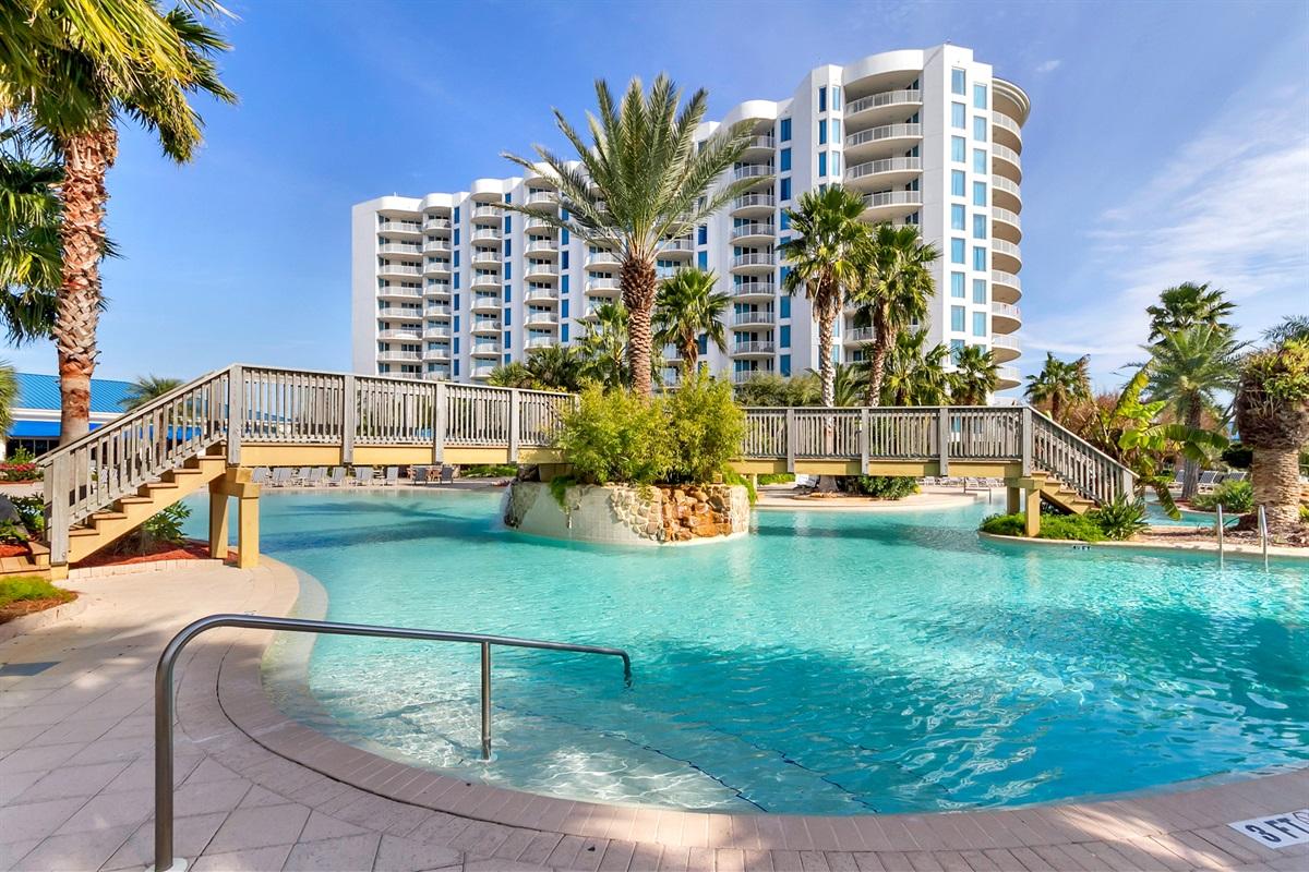 Large lagoon style pool