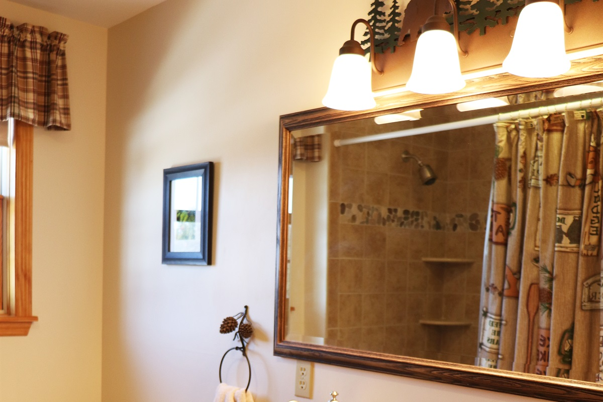 1st Floor full bathroom, tub & shower, located right next to the 1st floor bedrooms.