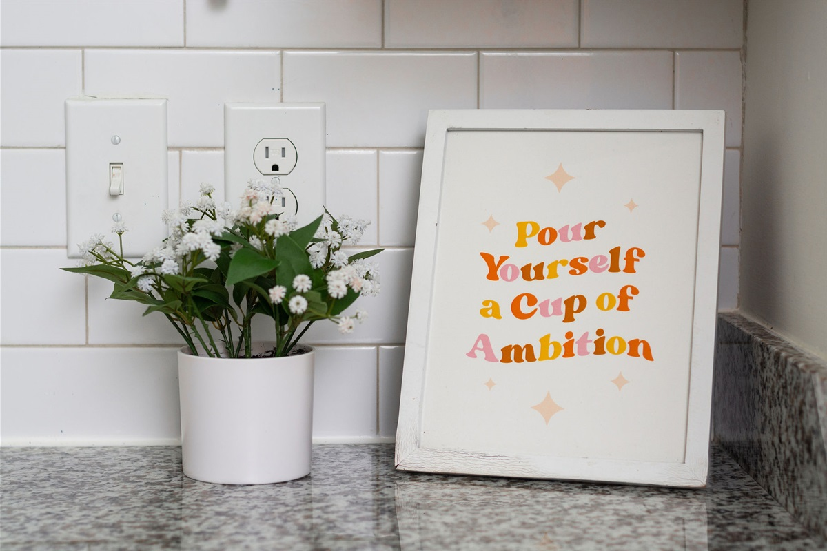 """""""Pour yourself a cup of ambition."""" - Dolly Parton"""