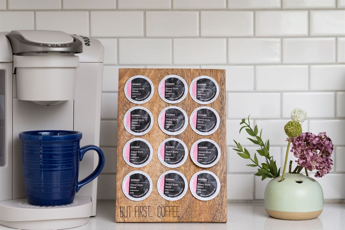 Keurig with coffee, creamer, and sugar provided!