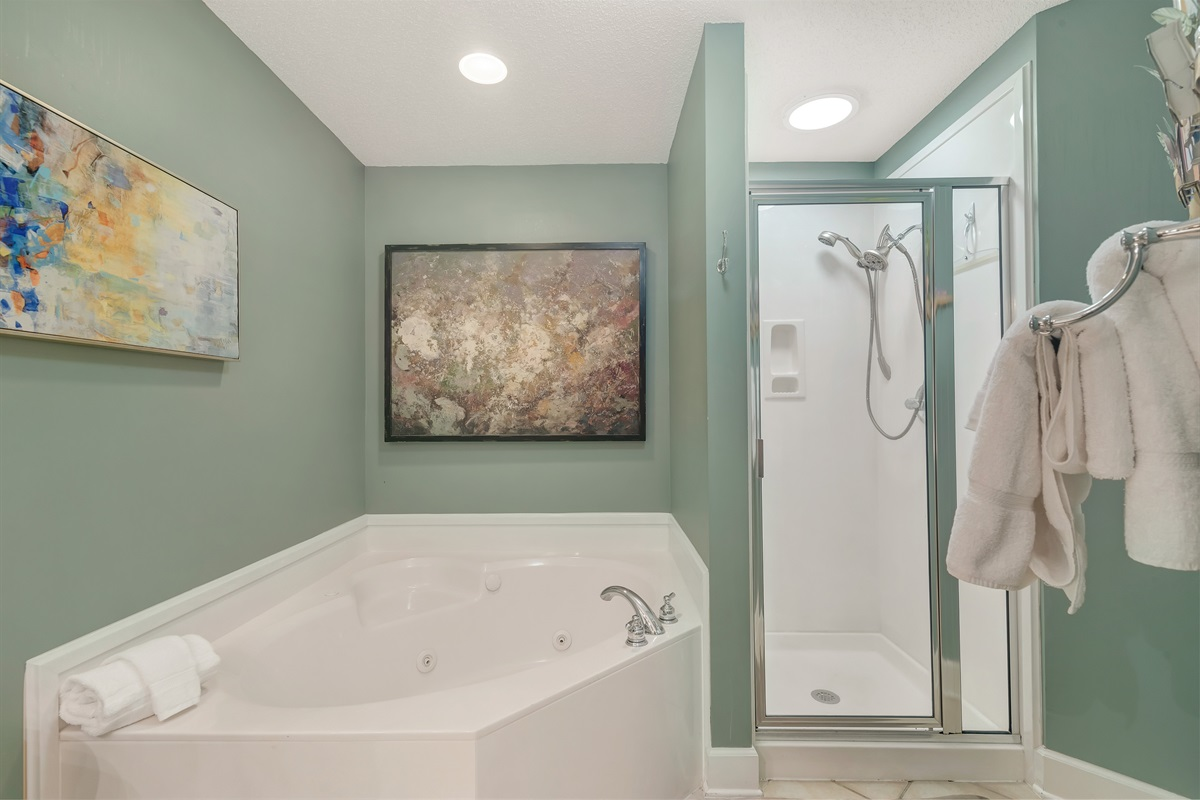Jetted Tub & Walk-in Shower