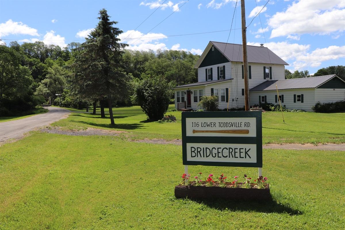 Bridgecreek sign