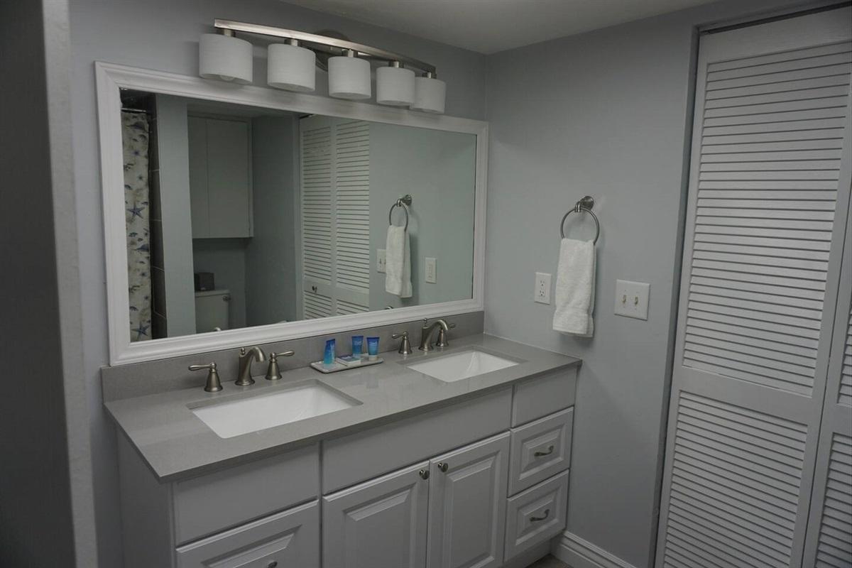 Beautiful dual granite vanity
