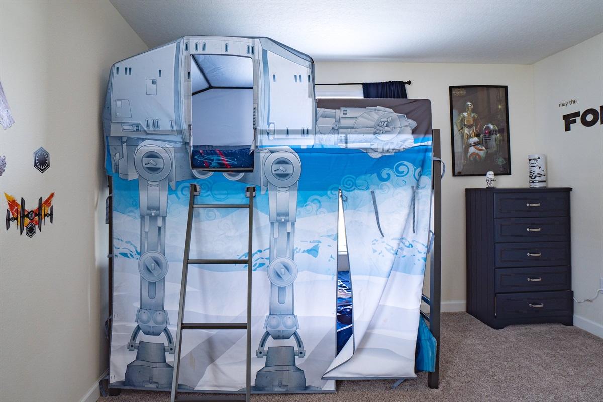 Kids will have fun picking their bunk