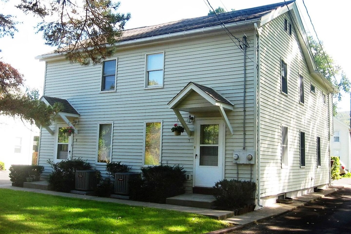 Cooperstown Baseball Rentals - West Ann Duplex 7 is located on the end of a quiet street in a residential neighborhood, approximately 3 miles from Cooperstown All-Star Village